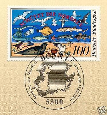 Brd 1990: Schützt Die Nordsee Nr 1454 Mit Bonner Ersttagssonderstempel! 1a! 1605 Heller Glanz