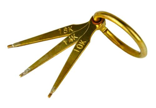 Gold Prüfung Prüf Nadel Set 18K 14K 10K Karat Alt Schmuck Schmelz Gold