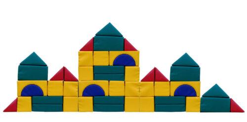 Großbausteine Kindergarten Kita Qualität Kunstleder-Bezug Reißverschluß 48 Teile