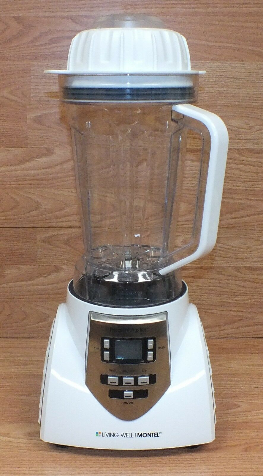 Living Well Montel Health Master Elite (JLA-8) blanc 8 Speed 2.2Qt Blender READ
