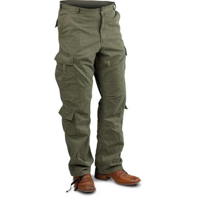 vintage paratrooper pants military style cargo fatigues olive drab rothco 2786