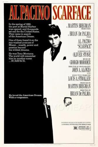 SCARFACE MOVIE POSTER FILM A4 A3 ART PRINT CINEMA 2