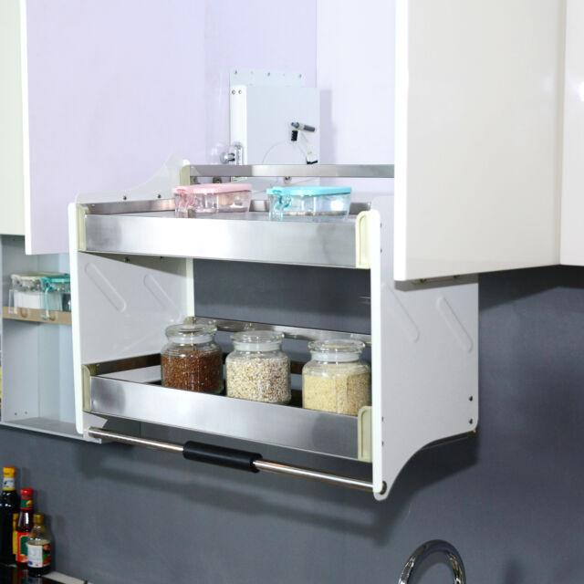 Pull Down 2 Tier Kitchen Display Shelf