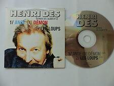 CD SINGLE Promo HENRI DES Ange ou demon  Les loups PMJ002