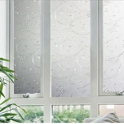 90 CM x 1 M - Frosted Glueless / Reapply Static Frosted Window Glass Film (TD)