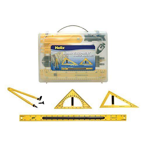 Helix Magnetic Blackboard and Whiteboard Teaching Equipment Set Yellow