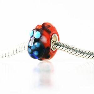 1pcs SILVER MURANO GLASS BEAD LAMPWORK Animal European Charm Bracelet DW283