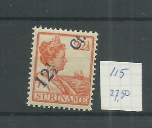 Suriname 115 hulpzegel  MH/ongebr CV 27,5 €
