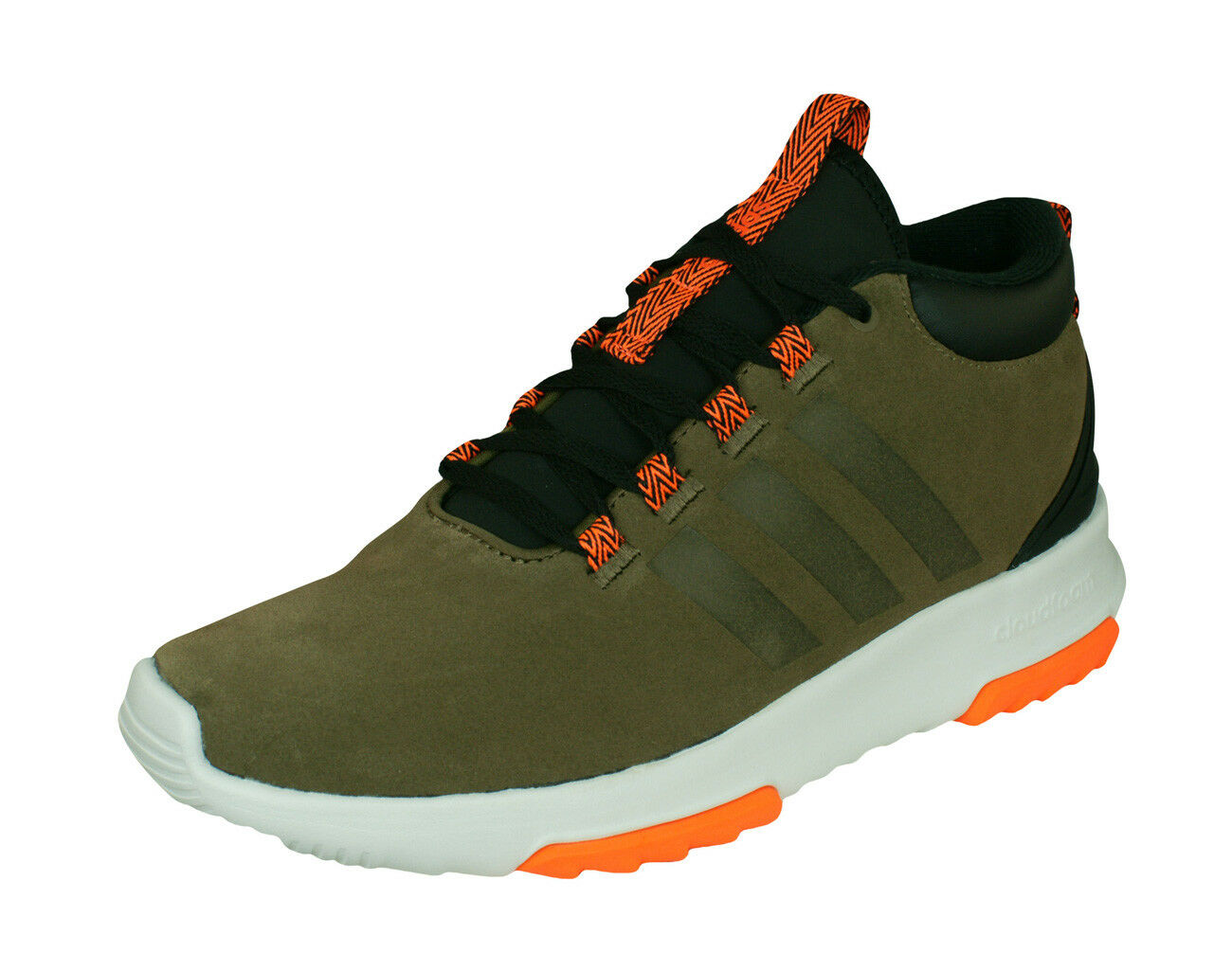 Adidas Neo CF Racer Mid WTR Mens Suede Sneakers Casual shoes - Dark Green