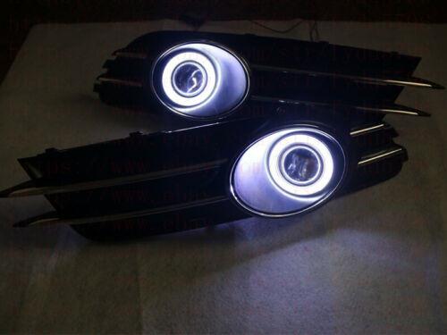 Direct Fit Audi A6 C7 2012-15 LED DRL Daytime Fog Light projector+angel eye Kits
