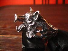 super schöner Ring Wolf Wolfskopf plastisch Edelstahl neu et Nox RG 65 20,5 mm