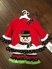 264ba3e687a1 item 1 NEW Rare Editions Little Girls Christmas Snowman Dress Leggings  Outfit 12 Months -NEW Rare Editions Little Girls Christmas Snowman Dress  Leggings ...