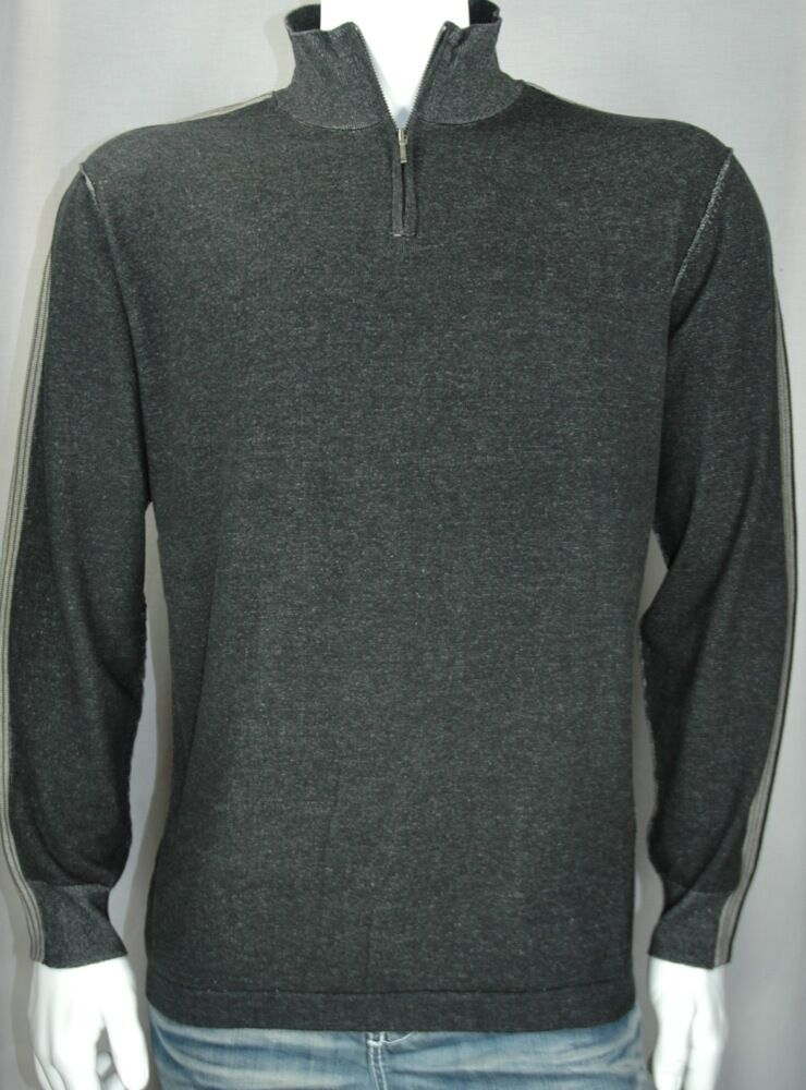 NEW Axis Half-Zip Cardigan w Racing Stripe - Men's Big & Tall Sweater