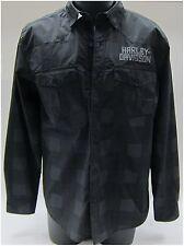 Harley-Davidson New Men's 3XX-Lg Wrinkle Resistant Long Sleeve Shirt Grey-Black