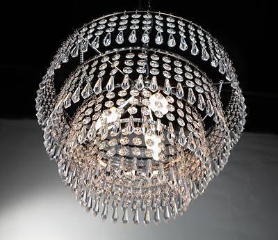 Lampadario moderno acciaio cromo pendenti acrilico lampada sospensione salotto