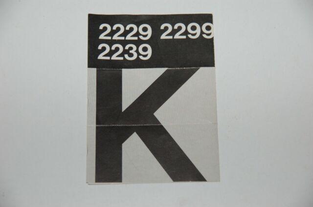 Märklin H0 Original Description For Switching Tracks K Track 2229 2299 2239 Top