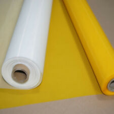 230 Mesh Count 65 Width Yellow Silk Screen Printing Mesh Fabric 50 Yards