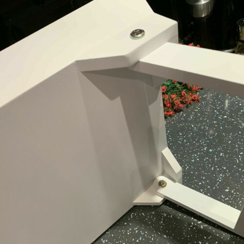 48x32cm White Wooden Lap Tray Breakfast in Bed Serving Folding Legs Table