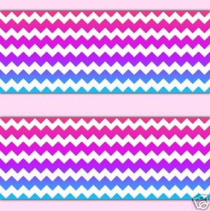 rainbow chevron wallpaper border wall decal teen girl baby