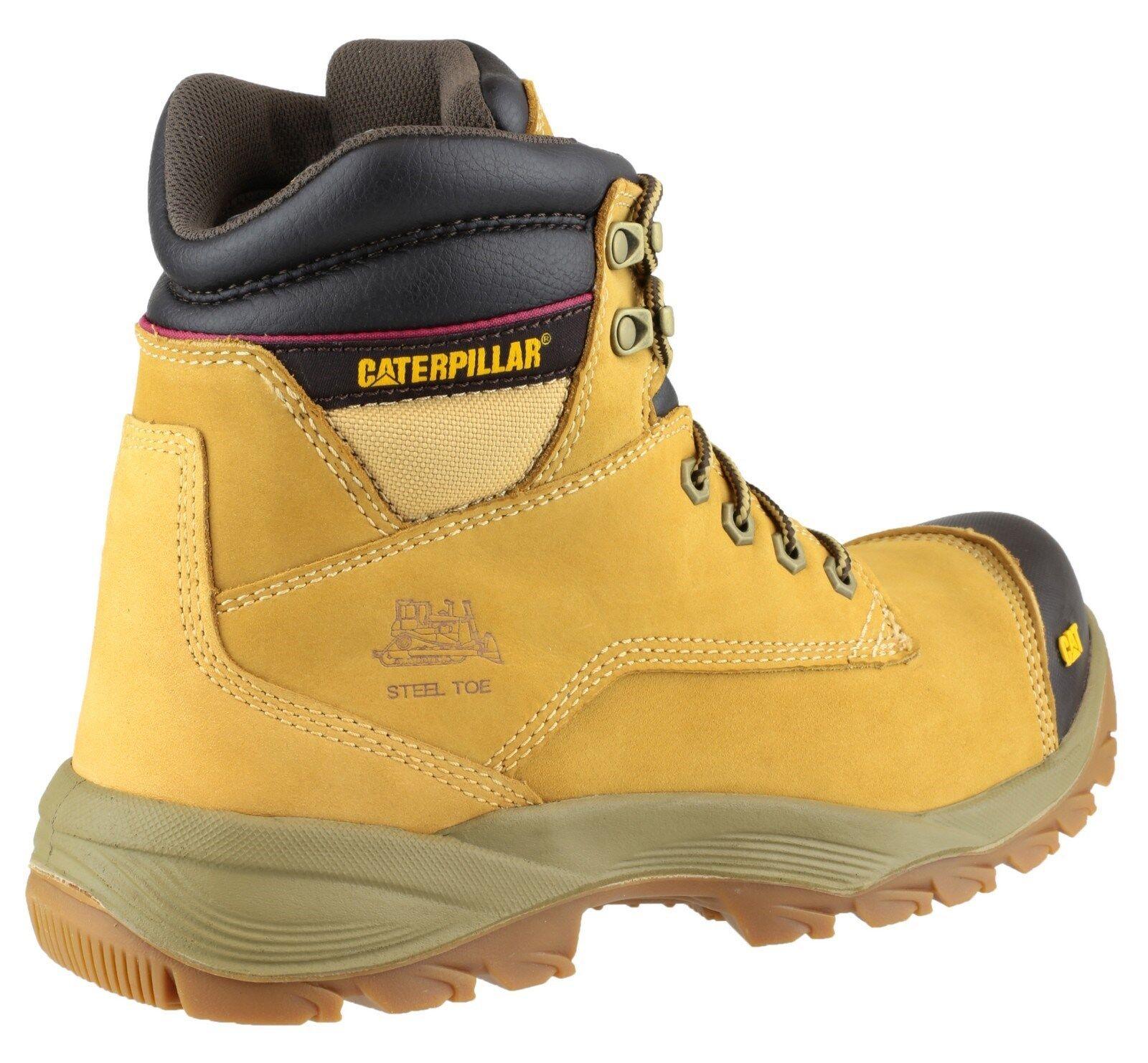 Homme caterpillar spiro miel cuir steel toe cap sécurité taille travail bottes taille sécurité 6-12 e4e196