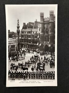 Vintage-Postcard-Royalty-A136-Coronation-Procession-1911-Leaving-The-Abbey