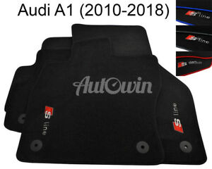 Floor-Mats-For-Audi-A1-8X-With-Sline-Logo-Tailored-Carpets-amp-Color-Variations