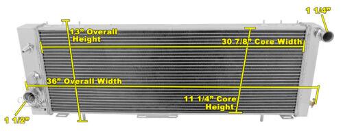 "Jeep Comanche Custom Aluminum Radiator Fan Shroud /& 3-10/"" Fans 11 1//8/""H x 31W,7"