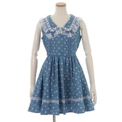 LIZ LISA - Dot collar jumper skirt ( Japan kawaii sweet lolita )
