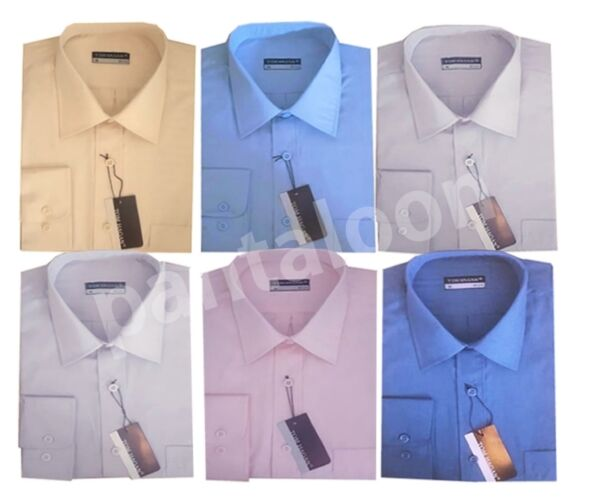 156-da Uomo Tinta Unita Manica Lunga Casual/formale Camicie Da Tom Hagan