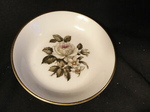 Royal-Worcester-Bone-China-Coaster-Saucer-Plate-White-Rose