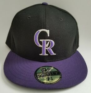 timeless design 5eb43 6229d Image is loading New-Era-MLB-COLORADO-ROCKIES-GAME-Cap-Fitted-