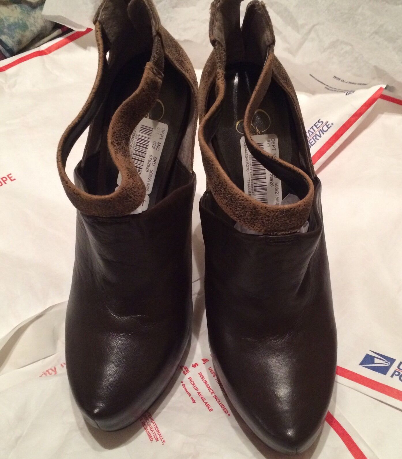 10 New Jessica Simpson Chocolate Leather  Platform  shoes