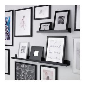 Mensola per quadri ikea mosslanda 55 cm bianca o nera ebay for Quadri ikea cucina