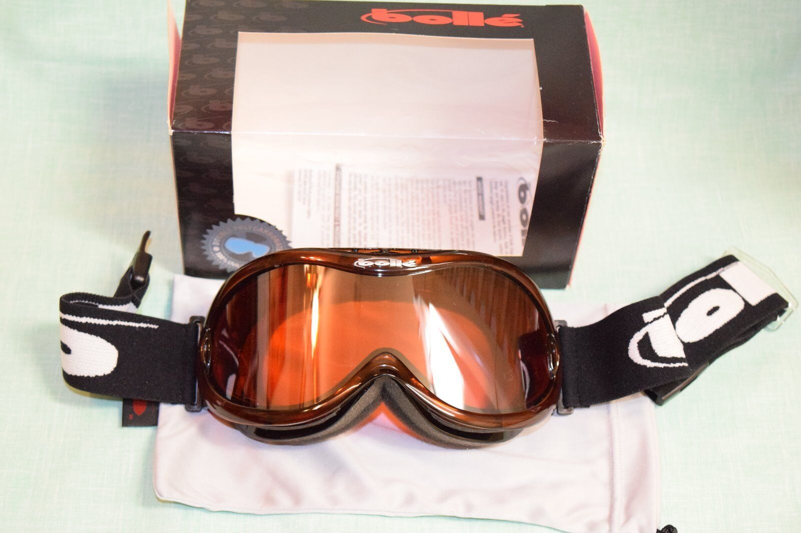 Bolle Mojo Snow Goggles nice new double poly carbonate lens