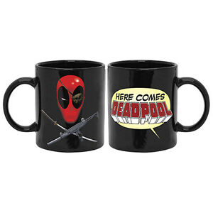 OUT Official Licensed HERE COMES DEADPOOL Coffee Mug Fathers Birthday Man Cave