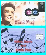 Edith Piaf  First Day Cover with Color Cancel Type 1