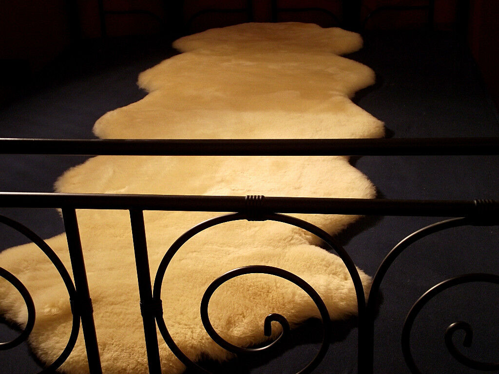 Lammfellauflage sofá cama fell oveja fell fell manta sofá Lammfellauflage tirada bajo la cama cordero 2m cbea79