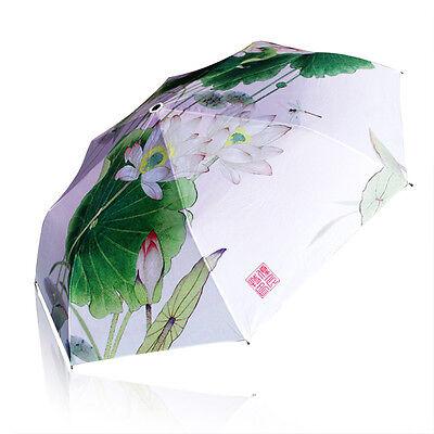 New Black Anti-UV Umbrella Special womens Lace Parasol Sun//Rain Flowers design