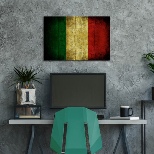 AB150 Italy Flag Retro Cool Modern Abstract Canvas Wall Art Large Picture Prints