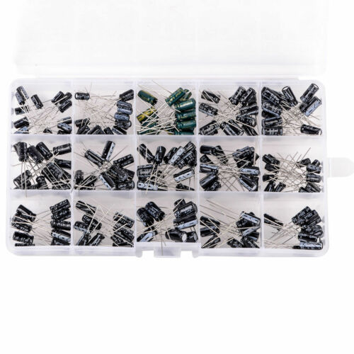 200 pcs Electrolytic Capacitor Assortment Kit with box 15 Values US Seller