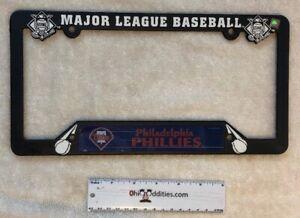 MLB-Philadelphia-Phillies-Baseball-License-Plate-Frame-Black-Plastic-NEW
