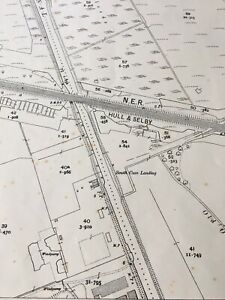 1909-Ordnance-Survey-Map-Plan-N-E-R-Hull-Selby-Railway-Market-Weighton-Canal
