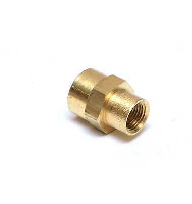 """Reducer 1//4/"""" to 1//8/"""" NPT Female Pipe Adapter Coupler Brass Fitting Water Oil Gas"""