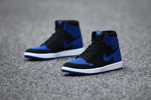 007e0a4e1a0c NIKE AIR JORDAN ROYAL 1 1985 FLYKNIT BLUE BLACK BRED 919704-006 Size ...