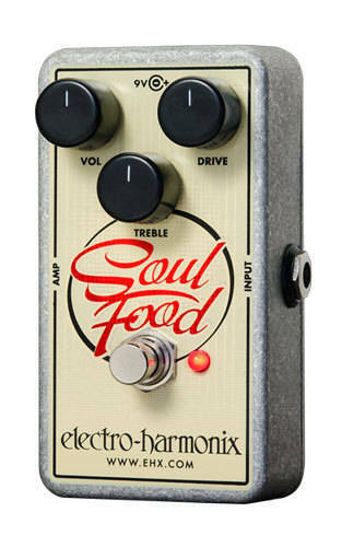 EHX Electro-Harmonix Soul Food Distortion Fuzz Overdrive Guitar Effects Pedal
