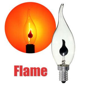 E14 E27 LED Flicker Feu Flamme Flamme Ampoule Bougie Lampe Lustre Domicile Décor