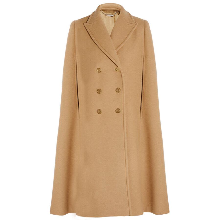 Alexander McQueen Luxurious Wool Camel Coloured Cape IT42 UK10