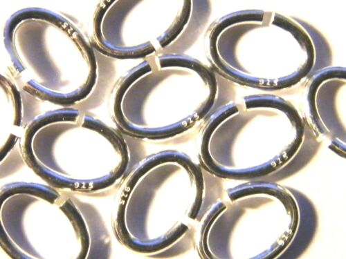 "10mm Solid Sterling Silver /""Oval/"" Jump Rings Heavy-Findings-Jump Rings .925"