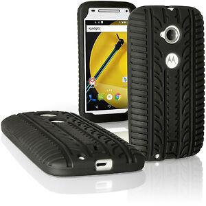 36a9ad5978d La imagen se está cargando Negro-Funda-Carcasa-Silicona-para-Motorola-Moto-E -