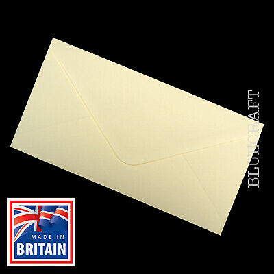 25 pack x DL Premium Quality Ivory Gummed Envelopes 110 x 220mm 100gsm